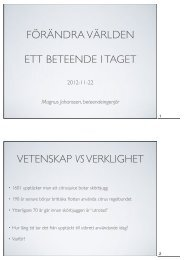 Magnus Johansson, beteendeingenjör - Avfall Sverige