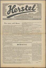 Herstel (1940) nr. 23 - Vakbeweging in de oorlog