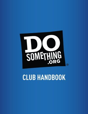 CLUB HANDBOOK - Do Something