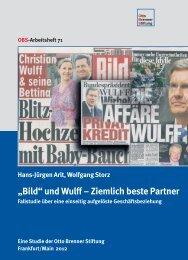 """""""Bild"""" und Wulff – Ziemlich beste Partner - Otto Brenner Stiftung"""