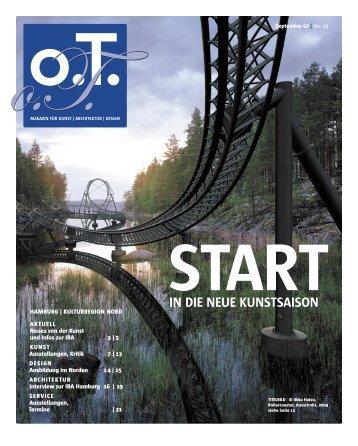 September 07 | No. 15 - Das Magazin für Kunst, Architektur und ...