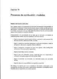 Procesos de combustion: modelos