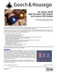 OL Series 700-80 LED Holders - Gooch and Housego