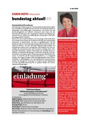 informiert - Roth, Karin (MdB)