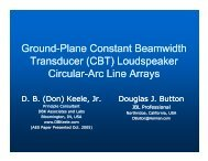 Ground-Plane Constant Beamwidth Plane Constant ... - Audio Artistry