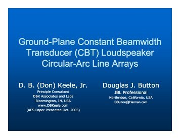 Ground-Plane Constant Beamwidth Plane Constant ... - Audio Artistry