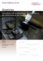 Glypticien - Institut National des Métiers d'Art