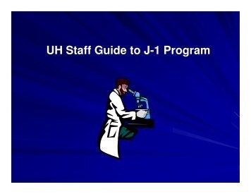 UH Staff Guide to J-1 Program - issso - uh