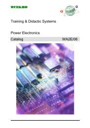 Training & Didactic Systems Power Electronics Catalog WA2E/06