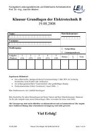 Klausur Get B SS 08 - Fachgebiet Leistungselektronik und ...