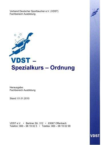 VDST-SK Ordnung. 01.01.10 - Tauchclub Harz eV