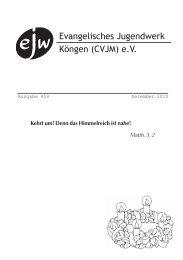 Bericht vom Ausschuss am 8.11.2010 - Evangelisches Jugendwerk ...