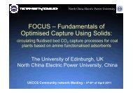 FOCUS – Fundamentals of Optimised Capture Using Solids: