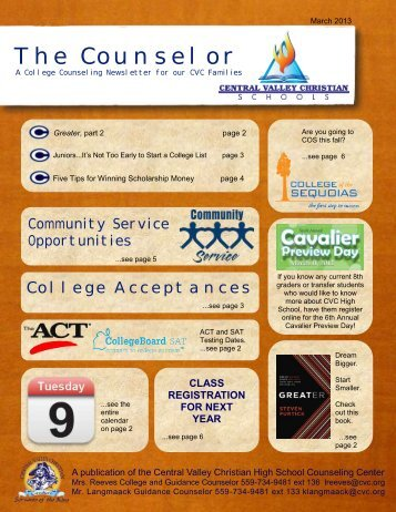 The Counselor - Central Valley Christian Schools