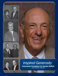 2010 Annual Report - Community Foundation for Greater Buffalo
