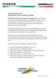 FUJIFILM präsentiert das Digital Minilab Frontier LP5700R und ...