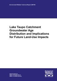 Lake Taupo Catchment Groundwater Age Distribution and ...