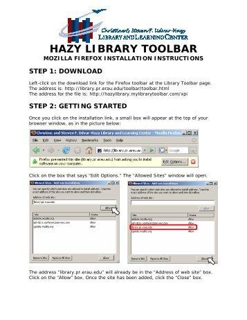 Mozilla Firefox - Hazy Library