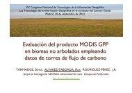 M. Flor Álvarez. Evaluación del producto Modis GPP en biomas no ...
