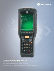 MC9500 Family Brochure - Bar Code Integrators, Inc.