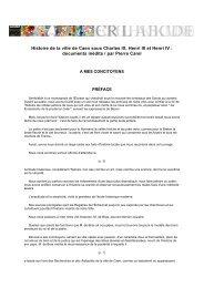 Histoire de la ville de Caen sous Charles IX, Henri III et ... - Normannia
