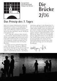 Das Prinzip des 7. Tages - Evangelische Kirchengemeinde Köngen