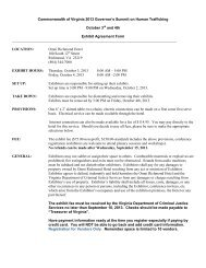 Exhibitor Agreement Form for Vendors - Virginia Department of ...