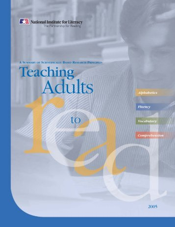 Teaching Adults to Read - LINCS - U.S. Department of Education