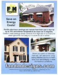 Download the Fairlite Awnings brochure - Zephyr Thomas Home ...