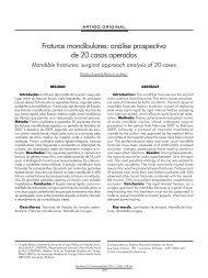 Fraturas mandibulares: análise prospectiva de 20 casos ... - ABCCMF