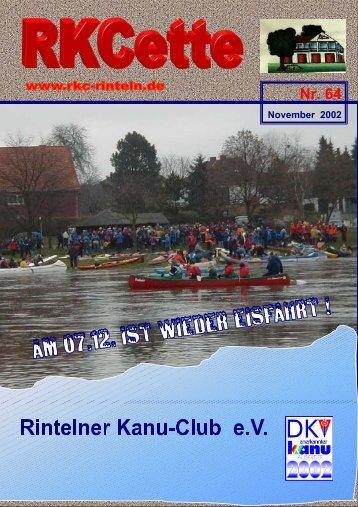 RKCette Nr. 64 (November 2002) - Rintelner Kanu-Club e.V.