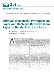 Survival of Bacterial Pathogens on Paper and Bacterial Retrieval ...