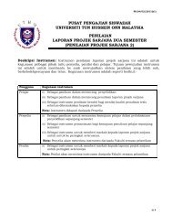 borang laporan projek sarjana - FPTV - Universiti Tun Hussein Onn ...