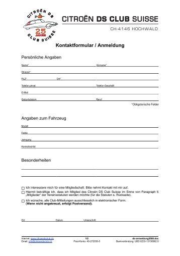 ds-anmeldung2008.doc - NeoOffice Writer - Citroën DS Club Suisse ...