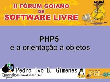 PHP5 e a orientação a objetos