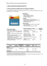 3. REGULADORES DE ENERGÍA REACTIVA - Cydesa