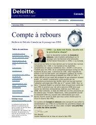 Compte à rebours - Deloitte
