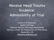 Abusive Head Trauma Evidence - Delaware State Courts