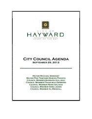 September 25, 2012 - City of HAYWARD