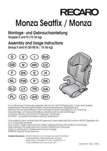 Monza Seatfix / Monza - Recaro!