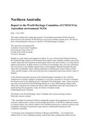 Report to the World Heritage Committee of UNESCO by Australian ...