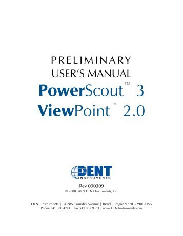PowerScout_3_18_prel.. - DENT Instruments