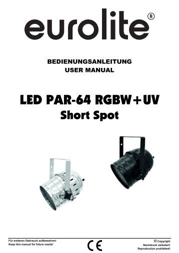 Eurolite Led Par manual