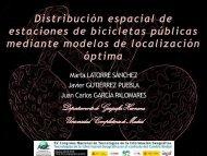 Marta Latorre. Distribución espacial de estaciones de bicicletas ...