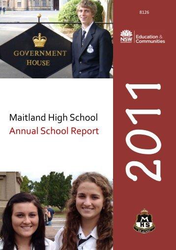 Maitland High School Annual School Report - Millennium