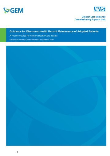 gemscu-guidance-for-electronic-health-record-maintenance-of-adopted-patients---a-practice-guide---may-2014