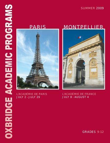 french language courses - Oxbridge Academic Programs