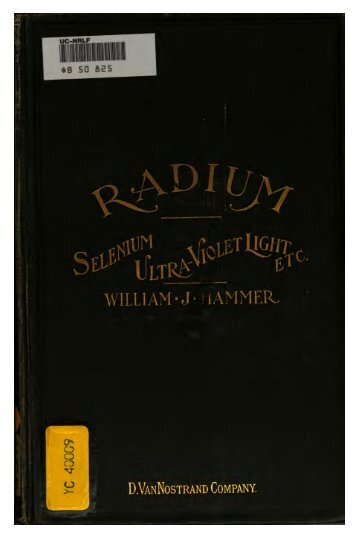 Radium and other Radioactive Substances