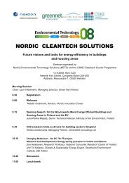 NORDIC CLEANTECH SOLUTIONS - Green Net Finland ry