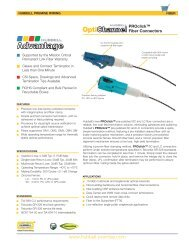 Fiber Connectors - Hubbell Premise Wiring